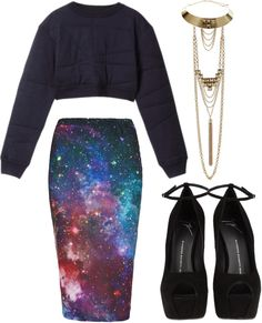 """""""intergalactic."""" by goldiloxx on Polyvore"""