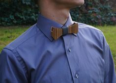 Wooden Bow Tie Walnut Slim