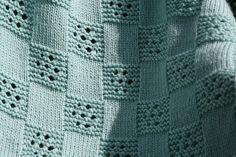 Ravelry: Eyelet Squares Blanket pattern by Linda Cyr