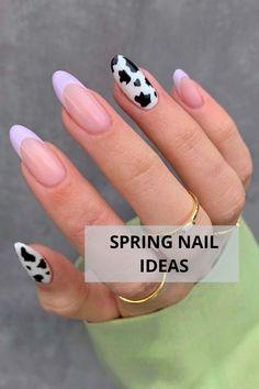 Edgy Nails, Punk Nails, Stylish Nails, Trendy Nails, Swag Nails, Spring Nails, Summer Nails, Cow Nails, Nagellack Design