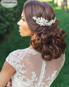 Gorgeous wedding updo hairstyle; Featured Websalon Weddings