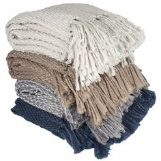 Elegant Hand Knit Style Throw Blanket with Fringe - Overstock™ Shopping - Great Deals on Throws
