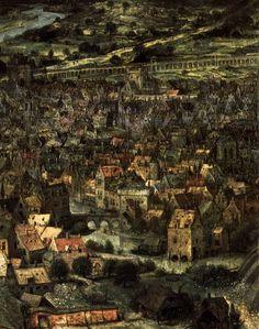 The Tower of Babel (dtail), 1563, Pieter Bruegel the Elder. Flemish Northern Renaissance Painter (ca 1525 - 1569)