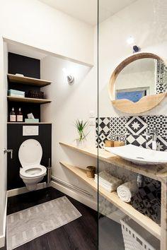 Rénovation complète d'un appartement de 30m²: Salle de bain de style de style Scandinave par MadaM Architecture