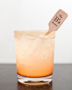 The B's Knees -- adorable cocktail name