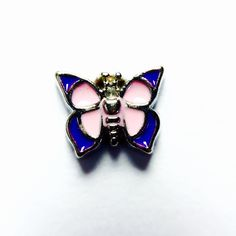 Pink and Purple Butterfly Charm
