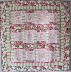 As yet unnamed, I have finished all the sketches for my 4th Shabby Roses quilt. I chose the fabrics, traced the designs onto crisp white qui...