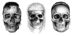 Die Antwoord and Duane Peters Skull designs done for Iron Fist Clothing (2013) - Iain Macarthur
