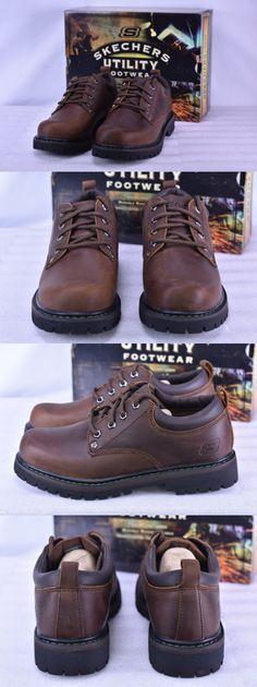 1dc117ab778 Occupational 11501  Men S Skechers 6618 Cdb Tom Cats Work Shoes Dark Brown  -  BUY IT NOW ONLY   41.99 on eBay!