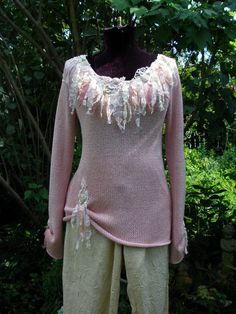 The Rustic Rose Romantic Boho Pink Cotton by ShatteredPrincess, $75.00