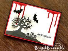 Sneak Peek, Autumn, Winter, Stampin Up, SU, Halloween, Spooky Fun, Berlin, BastelBazzzille, Stempeln, Stanzen, Staunen, Karte, Ghoulish Grunge, Halloween Scenery,