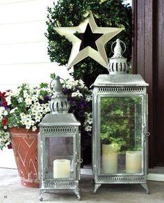love the lanterns. summer decor