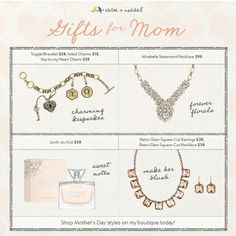 Mother's Day will be here before you know it!  www.chloeandisabel.com/boutique/jb