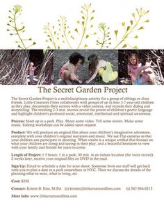 The Secret Garden Project from Little Creatures