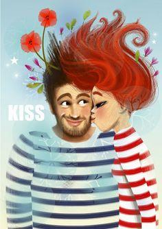 Kiss - Illustration Marie-Rose Boisson