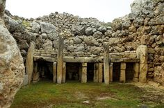 Ġgantija temples, Malta. According to historians these are the OLDEST STRUCTURES known in the world. Therefore worlds first form of architecture?