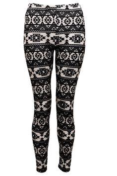 aztec leggings | images of black and white aztec print leggings buy for 10 00 fuchia co ...