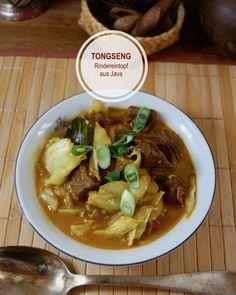 Indonesisch Kochen: Tongseng, Würziger Rindereintopf aus Java Rind, Asian Recipes, Stew, Cooking