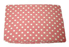 Small Pink Dot Crib Sheet