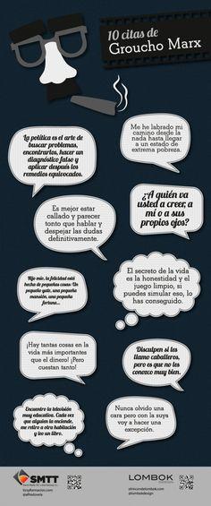 10 frases célebres de Groucho Marx #infografia #infographic #citas #quotes