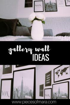 In 5 Schritten zur Gallery Wall - Ideen, Inspirationen,... piecesofmara.com Lounge, Poster, Inspiration, Interior, Wall, Blog, German, Furniture, Home Decor