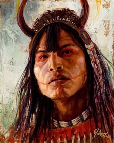 Assiniboin-Warrior-Assiniboin-Painting-James-Ayers kp Native American  Quotes 74717ccd82fb2