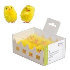 [ Spécial Pâques ] Petits poussins en chenille de soie, parfait pour décorer vos créations de Pâques ! >> http://www.perlesandco.com/Poussins_en_chenille_de_soie_3_cm_Jaune_x8-p-71386.html