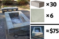 3 Surprising Useful Ideas: Easy Fire Pit Seating fire pit backyard budget. Easy Fire Pit, Small Fire Pit, Metal Fire Pit, Concrete Fire Pits, Diy Concrete, Concrete Blocks, Rectangular Fire Pit, Square Fire Pit, Fire Pit Landscaping