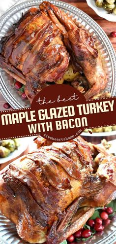 Your Thanksgiving dinner deserves the BEST turkey recipe! Not only is it tender and juicy, but it also has an undertone of sage and bonus bacon strips. What more can you ask of this easy main dish? Best Turkey Recipe, Turkey Recipes, Dinner Recipes Easy Quick, Easy Meals, Easy Recipes, Sage Butter, Thanksgiving Dinner Recipes, Turkey Glaze, Main Dishes