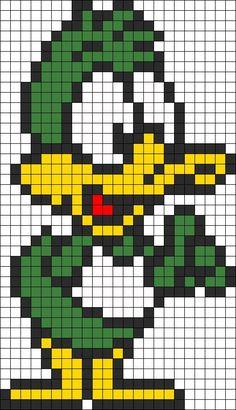 Plucky Duck perler bead pattern