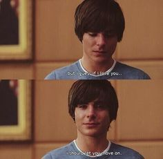Zac Efron from High School Musical and 17 Again Love Quotes For Her, Cute Love Quotes, 17 Again Quotes, 17 Ans Encore, Funny Movies, Good Movies, Best Love Movies, Best Movie Lines, Indie Movies