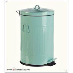 Cubo de basura retro Sweet azul mint - WWW.DECORATECA.COM