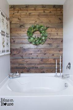 Master Bathroom Budget Makeover: Builder Grade to Rustic Industrial - Bless'er House