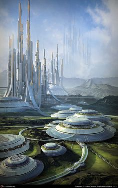 'The 12th Colony 2321' by Stefan Morrell http://www.pinterest.com/adssolar/solar-power-systems/
