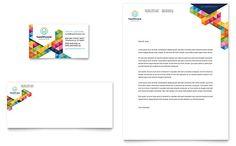 Health Fair Business Card & Letterhead Template Design