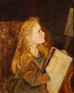 George Lawrence Bulleid (1858-1933) | Study Of A Girl Painting