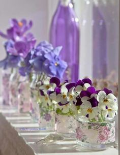 Shades of Violet in Vintage China