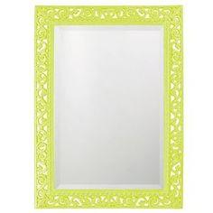 Howard Elliott Rectangle Bristol Glossy Moss Green Mirror