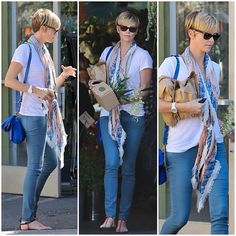 #CharlizeTheron #beauty in #vassilisa #scarf #california cute and feminine look