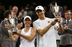 Mike Bryan/Lisa Raymond | Mike Bryan Pictures - The Championships - Wimbledon 2012 over Leander Paes/Elena Vesnina 6-3, 5-7, 6-4.