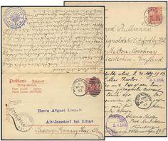 Germany, German Empire, Deutsches Reich 1902, 10 Pfg.-GA-Doppelkarte, von Jonsdorf/Sachsen nach Melton-Mowbray/GB, von England nach Sachsen zurückgeleitet (Mi.-Nr.P62). Price Estimate (8/2016): 25 EUR. Unsold.