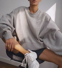 Nike Sweatshirt + Vetements Sneakers Lounge Outfit, Lounge Wear, Cool Outfits, Summer Outfits, Casual Outfits, Look Fashion, Fashion Outfits, Womens Fashion, Nike Fashion