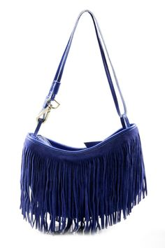 I am in love with this fringed suede shoulder bag. funky & cute! Can wear this all year!