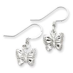 Sterling Silver Small Polished Butterfly Earrings *** ADDITIONAL INFO @ http://www.finejewelry4u.com/jewelry100/13917/?439