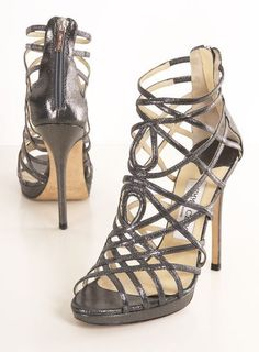 Strappy, heels