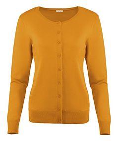 573cddc9d2 Simlu Womens Cardigan Sweater Button Down Long Sleeve Rou... https