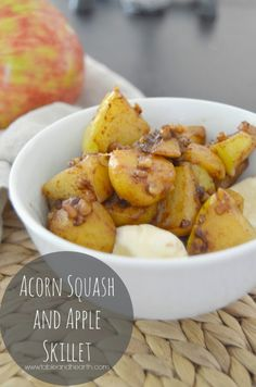 Savory and rich avory acorn squash and crisp apples are combined in this quick dish, perfect for breakfast, lunch or as a healthy dessert.