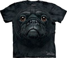 Black Pug Face Kids T-Shirt