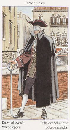 Page of Swords  - Tarot of Casanova by Luca Raimondo