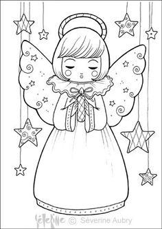 """iColor """"Little Kids Christmas"""" Angel Coloring Pages, Colouring Pages, Coloring Pages For Kids, Coloring Books, Christmas Angels, Kids Christmas, Christmas Crafts, Christmas Coloring Sheets, Christmas Drawing"""
